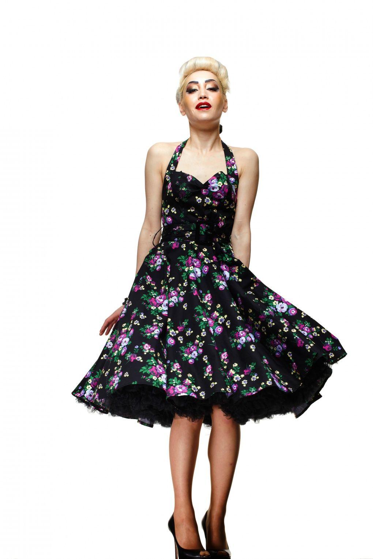 Kleid - 50er Jahre, Tellerrock, Gr. 32 - 44, Schnittmuster Burda ...