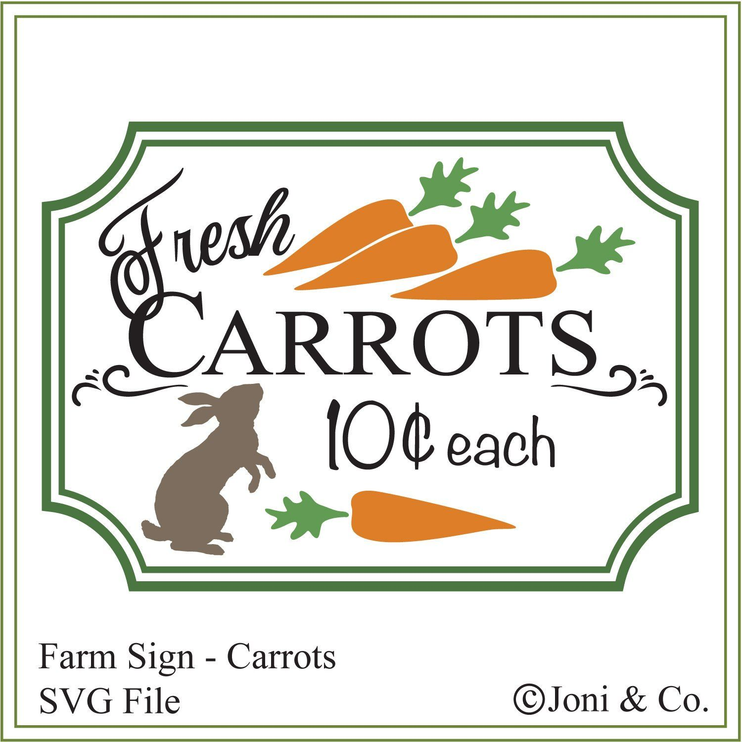 Farmhouse Sign Svg Carrots Svg Country Rustic Farm Sign Glass