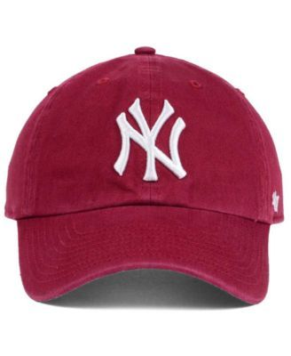 55bed360 '47 Brand New York Yankees Cardinal and White '47 Clean Up Cap - Red  Adjustable. '