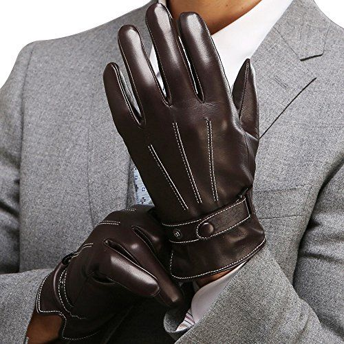 Best Winter Mens Leather Gloves Made Of Australia Lambskin Drive Work Motorcycle Riding