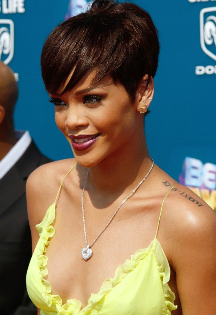 Rihanna Roman Numeral Tattoo Rihanna Hairstyles Hot