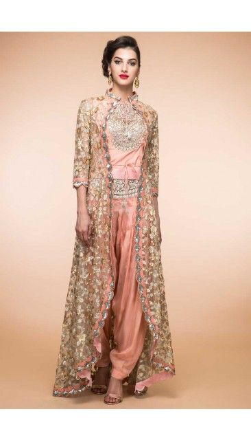 Peach Silk Patiala Suit Online - 1872 | Plus Size Dresses ...