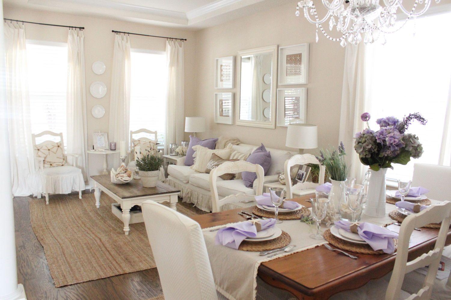 Lavender in the Living Room | Starfish, Living rooms and Room