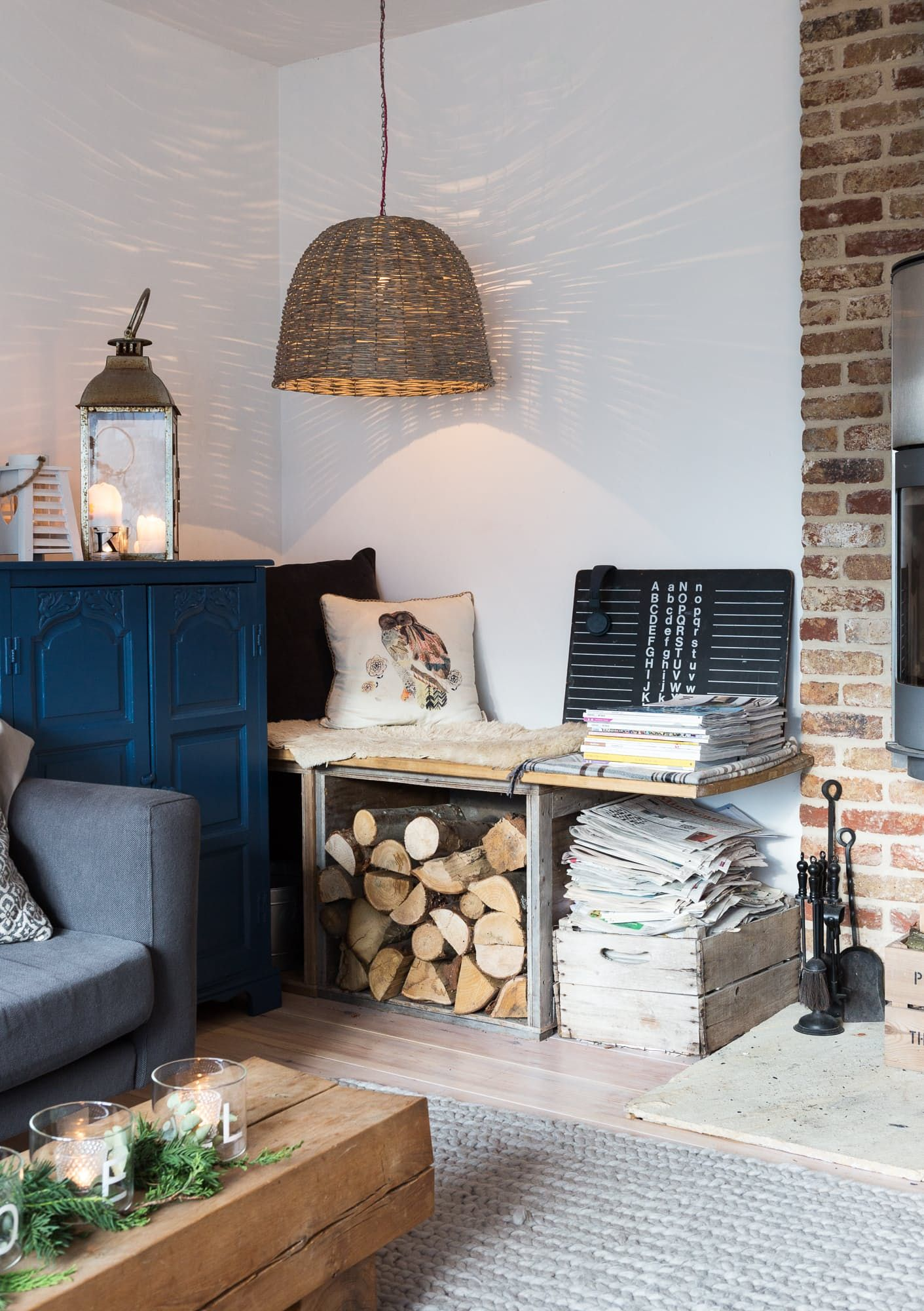 Cozy Christmas Decor In A Rustic Modern English Home