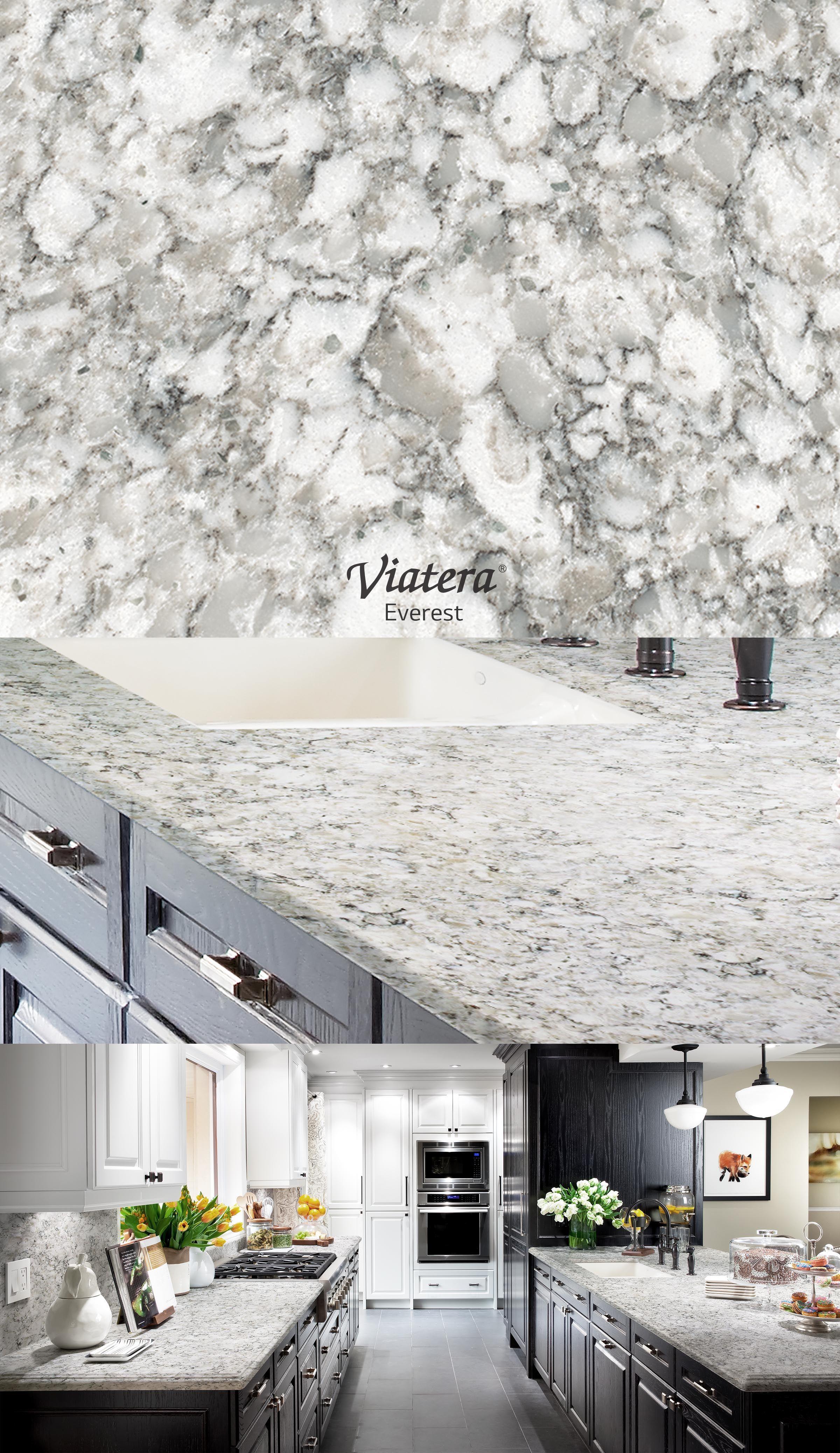 Viatera Everest L Quartz Countertop Grey Inspiration