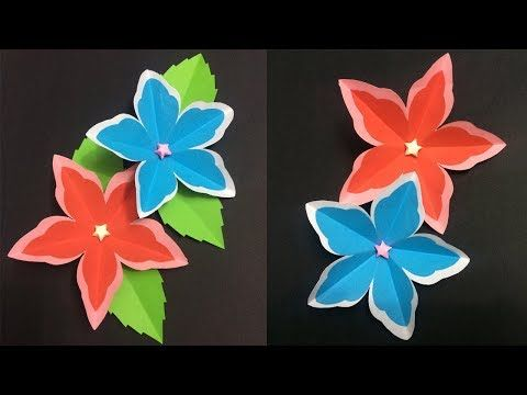 How to make 5 petal paper flower making paper flowers diy paper how to make 5 petal paper flower making paper flowers diy paper crafts mightylinksfo