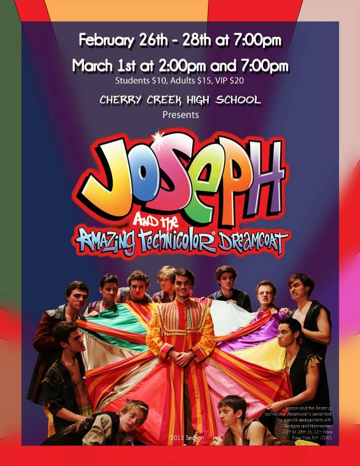 Congrats to the cast and crew of the 2014 Bobby G Award-winning production of 'Joseph and the Amazing Technicolor Dreamcoat' at CCHS!