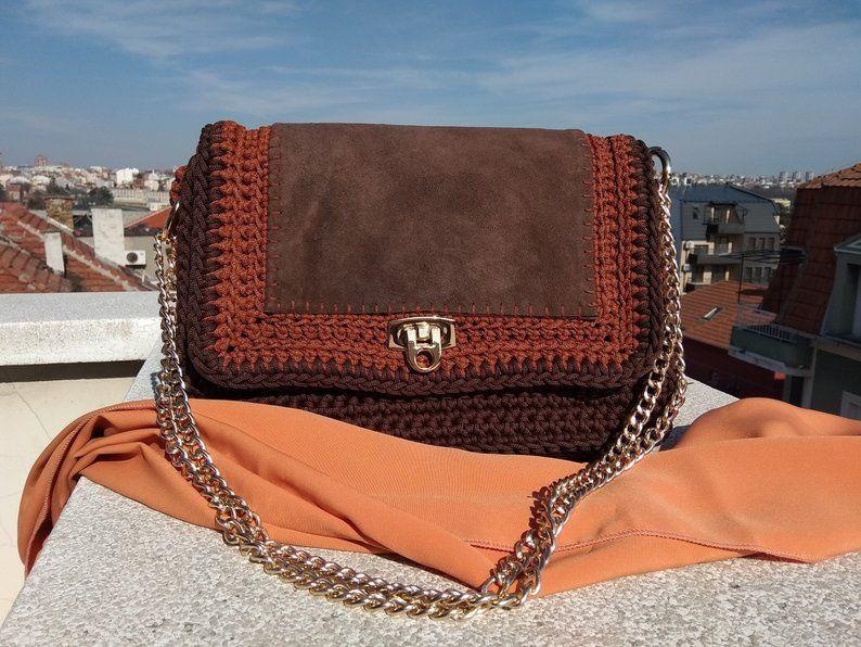 Tooled leather applique shoulder bag s hippie girl vintage