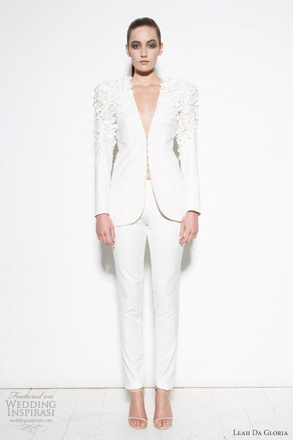 Beautiful Leah Da Gloria Dresses u Project Runway Australia Finale Collection Wedding PantsuitWedding SuitsBridal