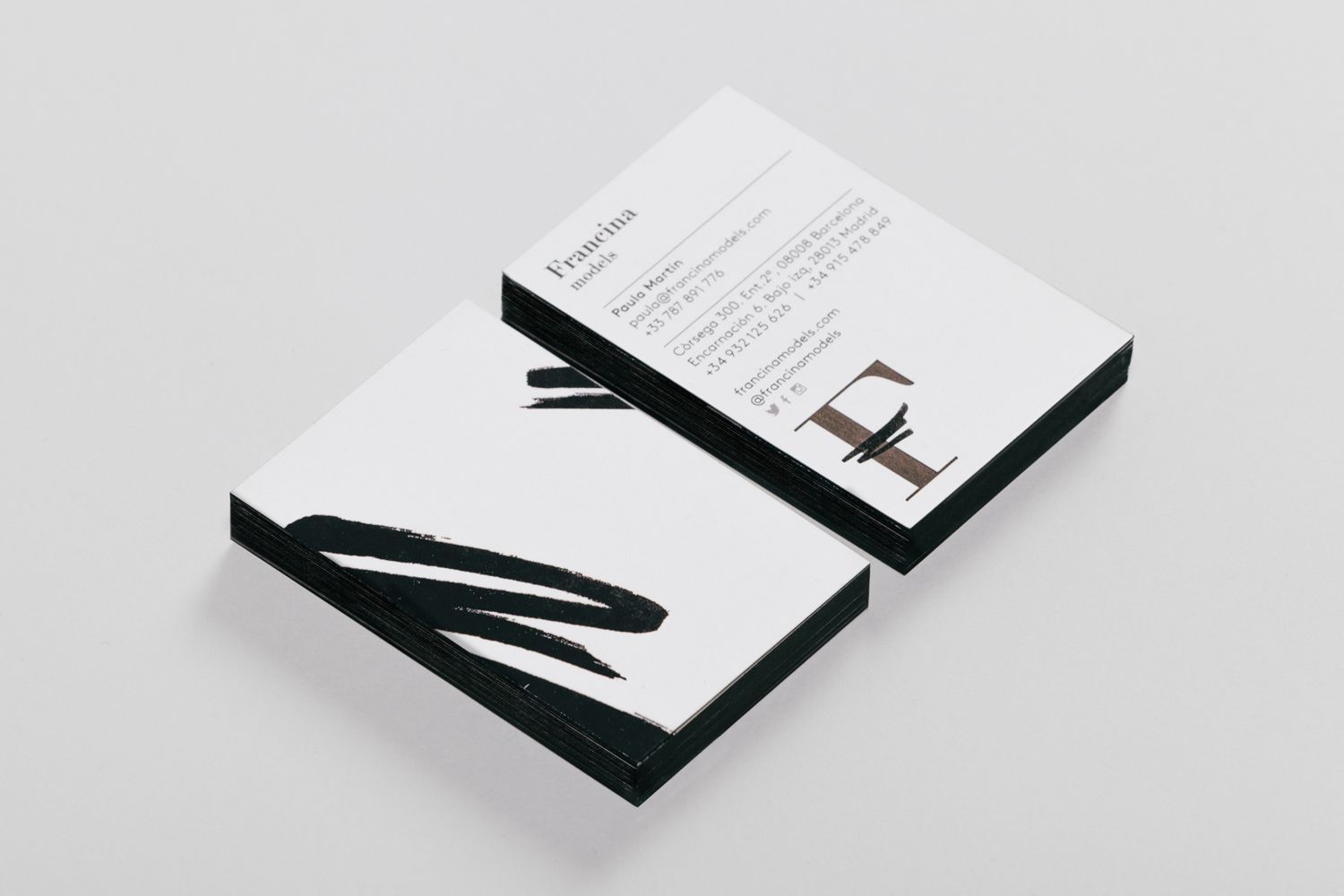 New Branding for Francina Models by Mucho — BP&O | Graphic design ...