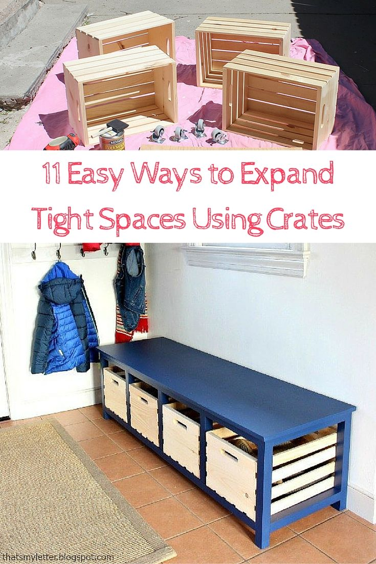 11 Easy Ways To Expand Tight Spaces Using Crates With