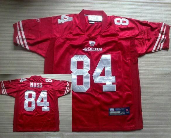 reputable site 7ac46 e3864 San Francisco 49ers #84 Randy Moss Red NFL Jerseys   San ...