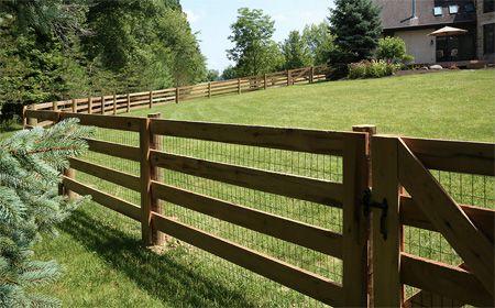 4 Rail Farm Fence Backyard Farm