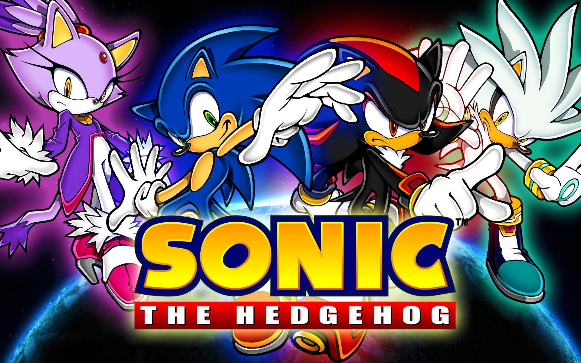 Blaze, Sonic, Shadow, And Silver. The Four Most Powerful