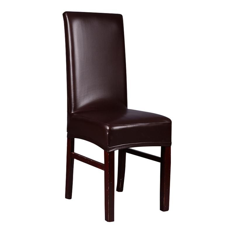 Brown Leather Pu Chair Covers