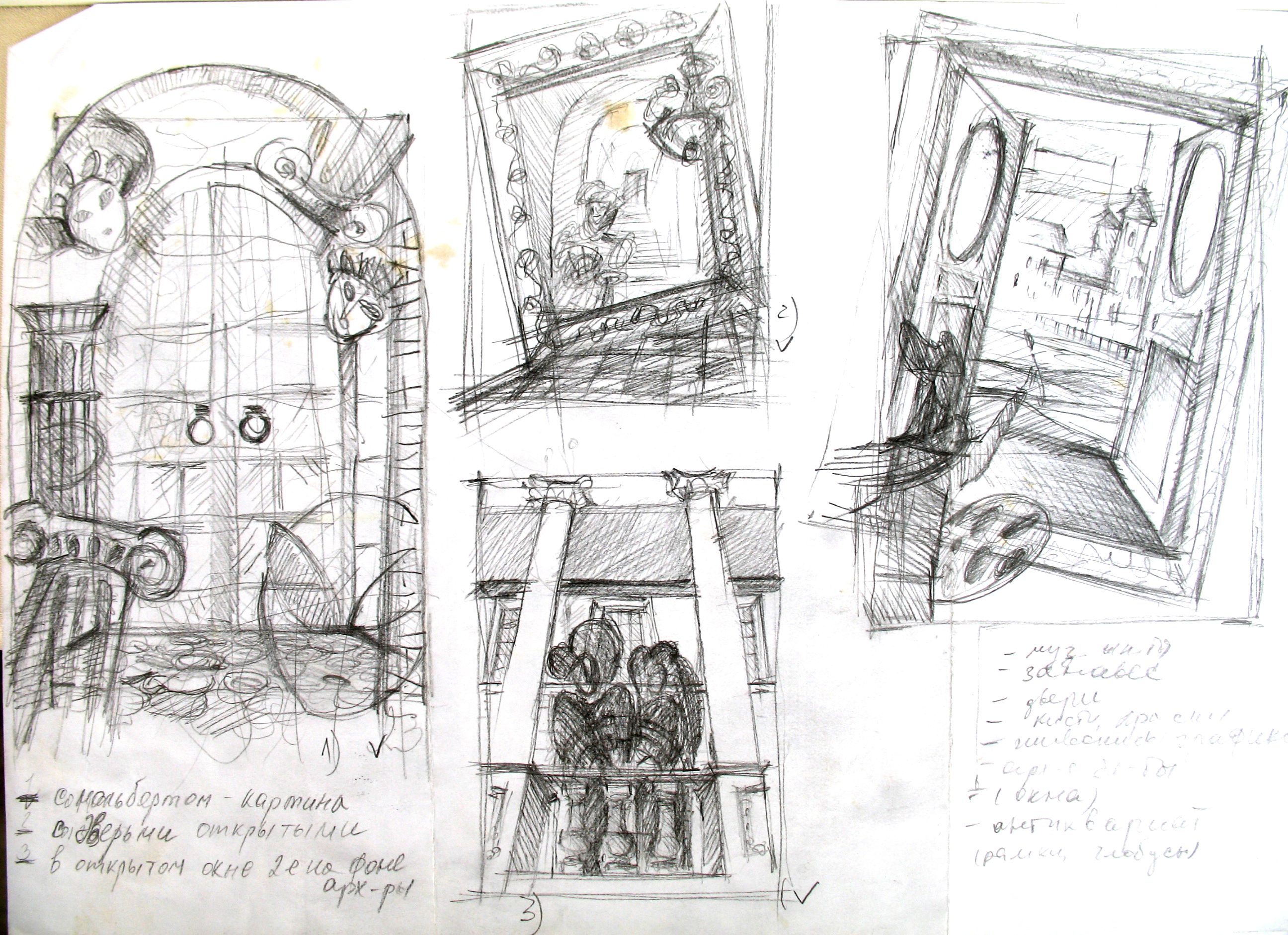 sketches for art collages for puppet theater sketches sketching pencil painted drawing 3handdrawing theater [ 2592 x 1881 Pixel ]