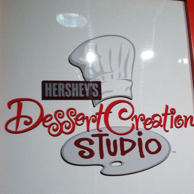 Dessert Creation Studio sign at Hershey's Chocolate World