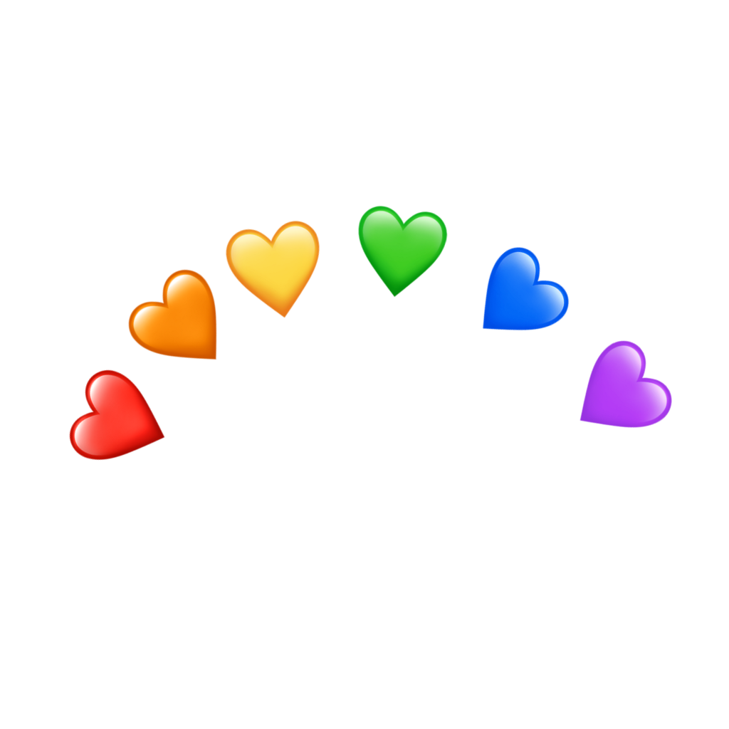 Freetoedit Rainbow Heart Tumblr Remixit Emoji Backgrounds Heart Emoji Stickers Heart Emoji