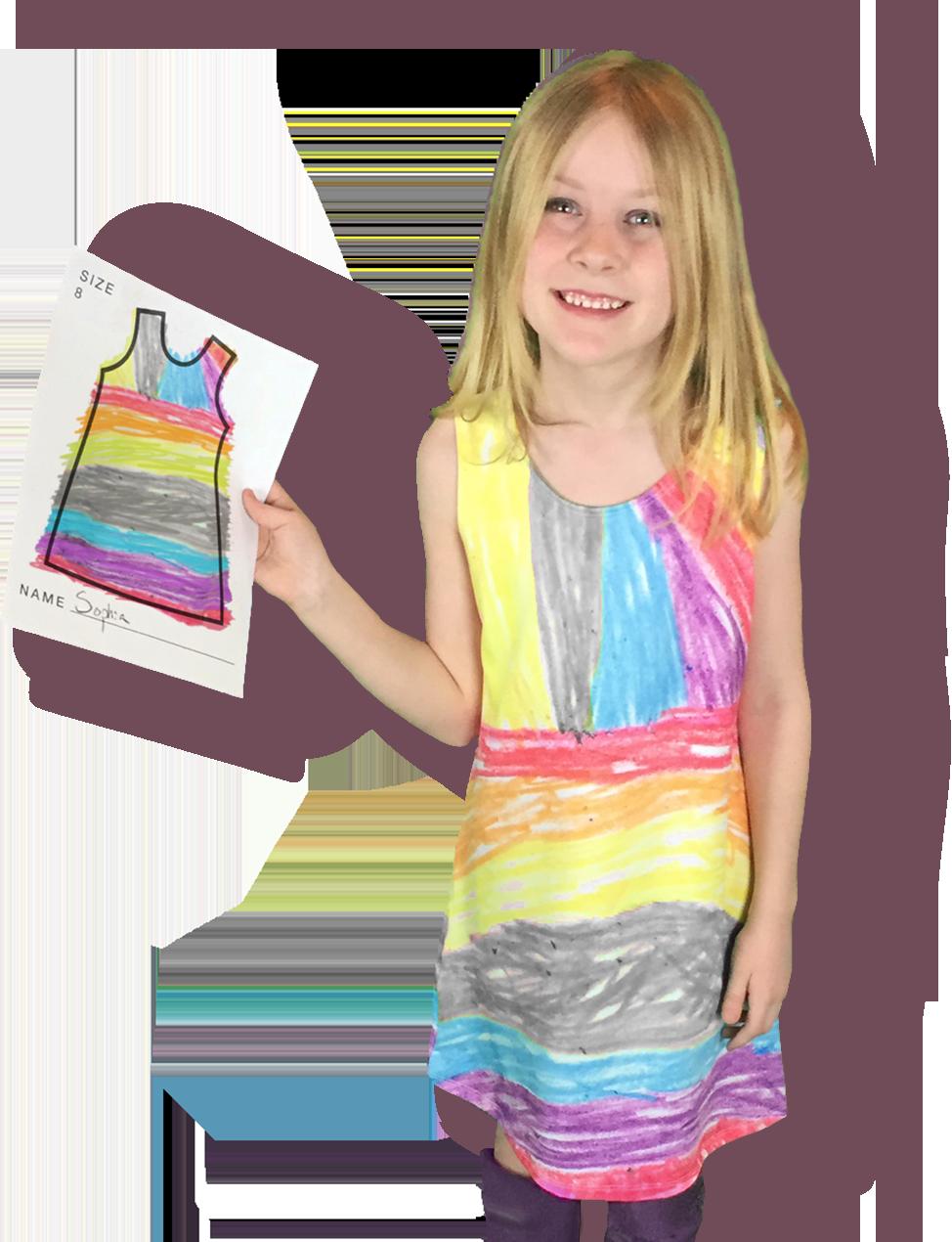 421be9c59 Wear your Imagination! Kids design their dresses hands-on. Parents ...