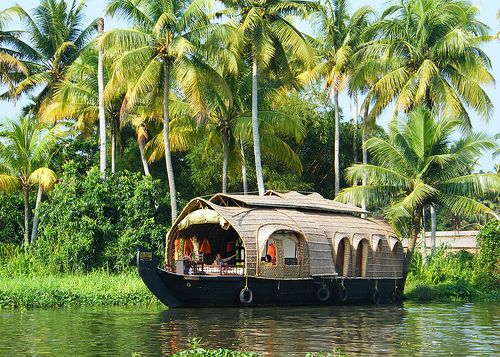 Indian Kerala Backwaters Kettuvallam (Rice Boat) by Nostalgic T+ Allan, via Flickr