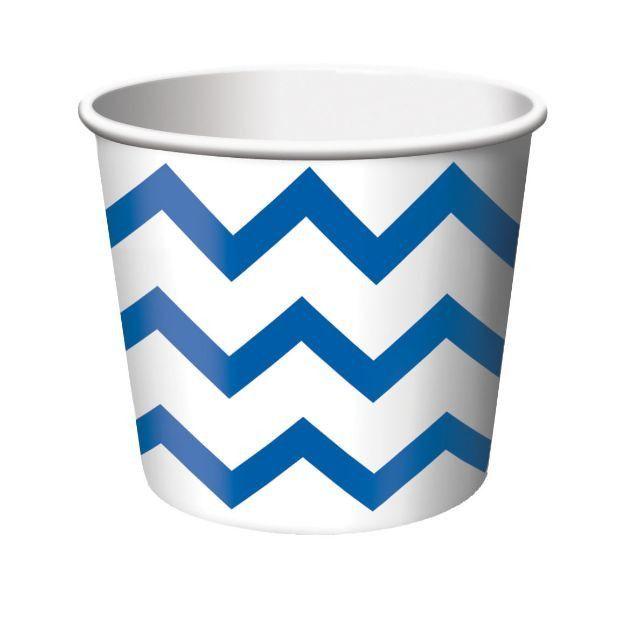 Chevron & Dots T Blue Treat Cup