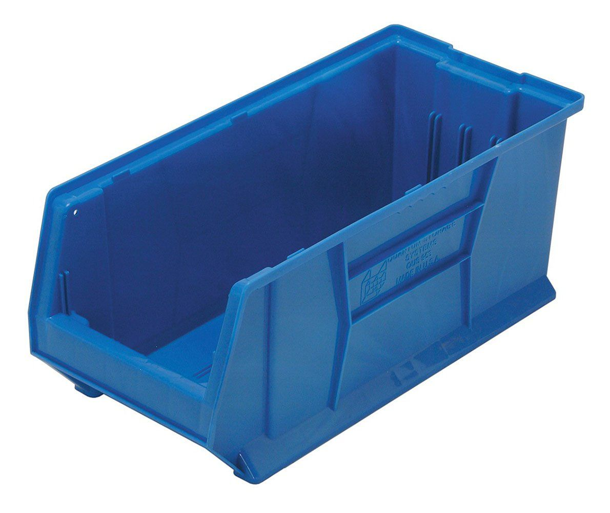 Quantum Qus953 Plastic Storage Stacking Hulk Container 24 Inch By 11 Inch By 10 Inch Blue Case Of 4 Read M Storage System Storage Chairs For Small Spaces