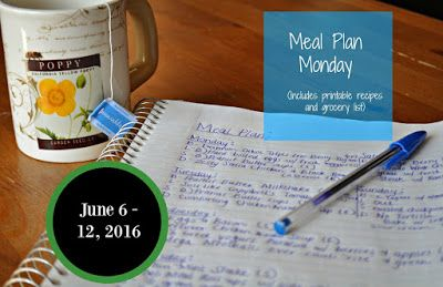 Darcie's Dishes: Meal Plan Monday: 6/6-6/12/16 ~ A complete one week meal plan. It includes all meals, snacks and drink and is 100% Trim Healthy Mama compatible. The menu is printable and features a printable shopping list too.
