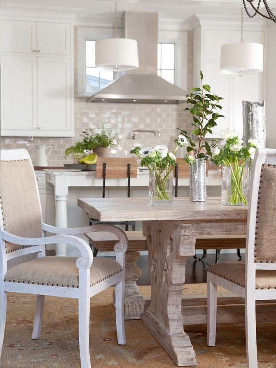 Table, chairs, bench