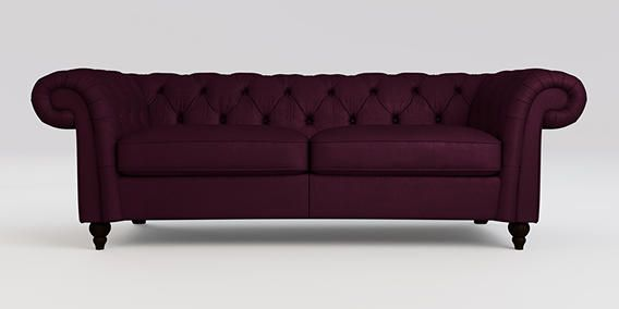 plum sofas uk forest green torquay sofascore buy gosford buttoned medium sofa 3 seats matt velvet dark low turned from the next online shop