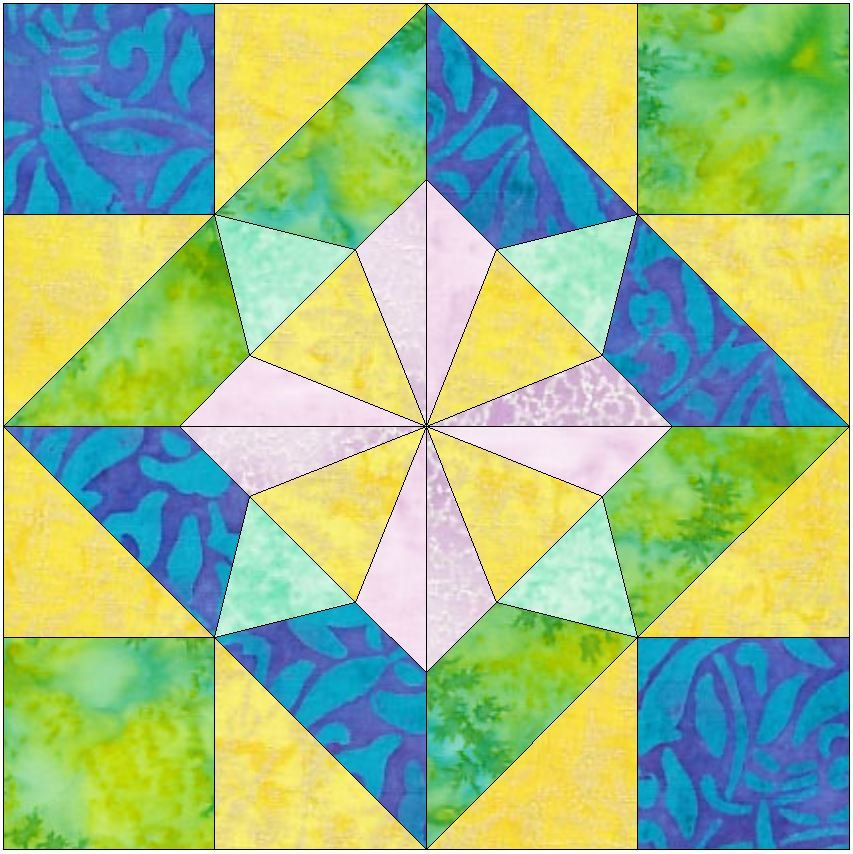 Windmill 15 inch Paper Template Quilting Block Pattern PDF by ... : paper templates for quilting - Adamdwight.com