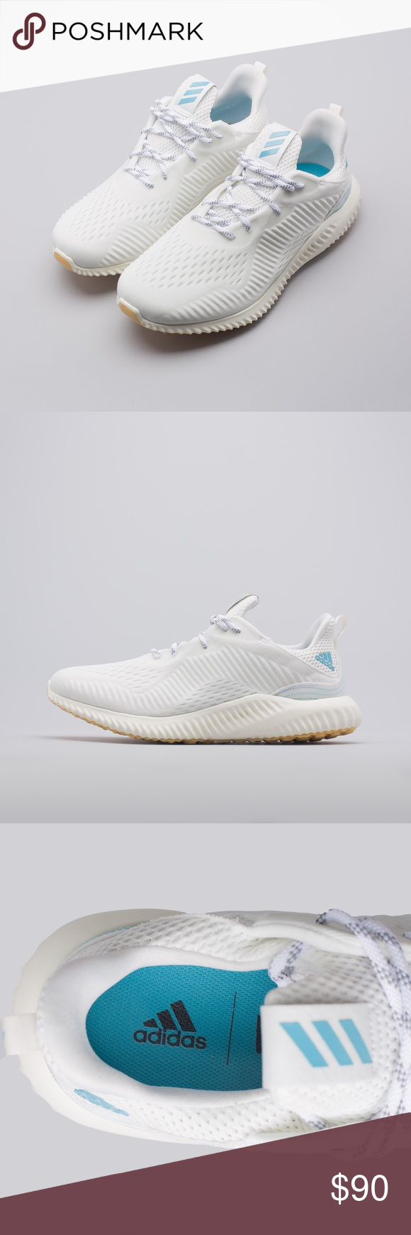 a6a4a628d4134 Adidas Alphabounce 1 Parley White Blue - DA9992 BRAND NEW AUTHENTIC ALPHABOUNCE  1 PARLEY SHOES