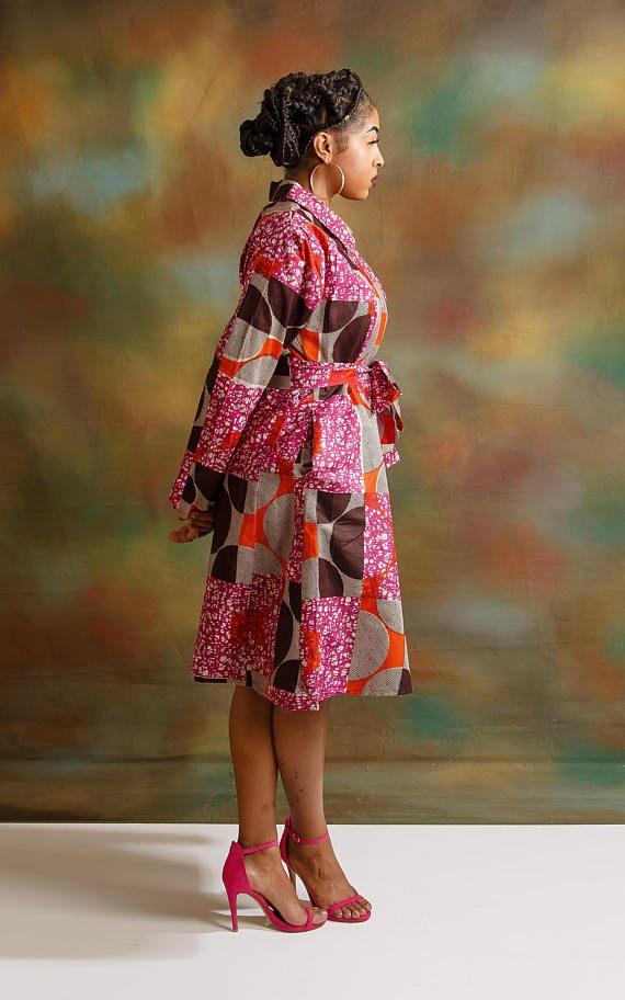 Dashki Fabric African Fashion Ankara Kitenge African: Ankara Shirt Dress. Ankara