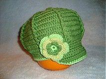 Detské čiapky - Zelená bekovečka - 1175705