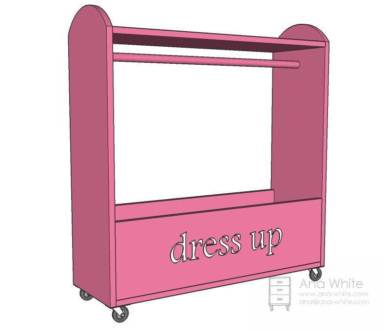 Directions For Craftiness Is Not Optional S Dress Up Storage Make With Top Shelf And Hooks