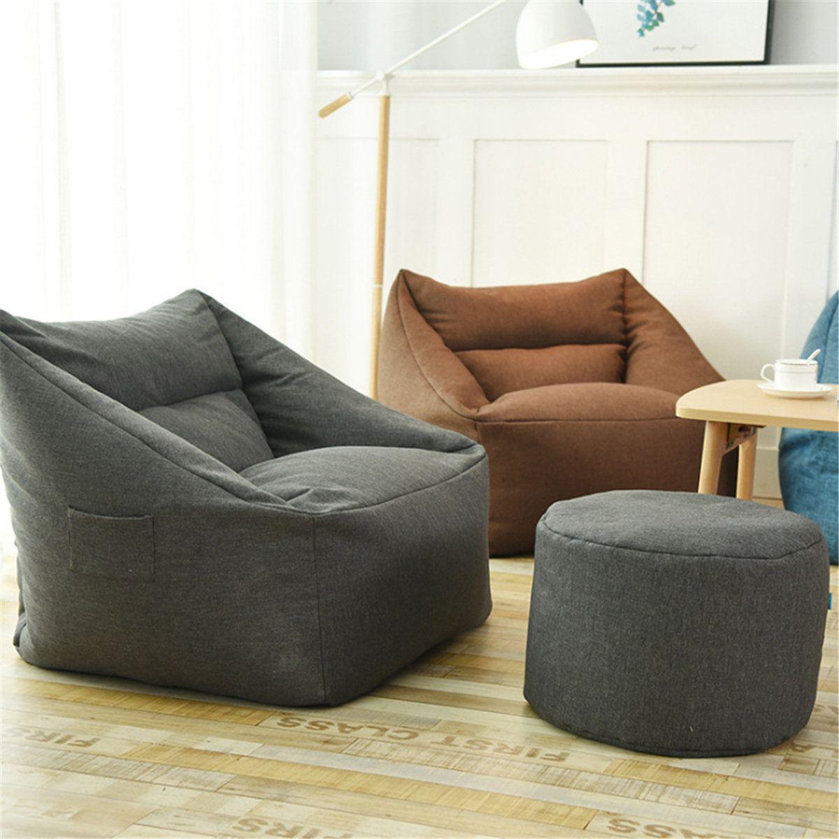 Waterproof Bean Bag Lazy Sofa Indoor Seat Chair Cover Beanbag Sofas Large Bean Bag Cover Armchair