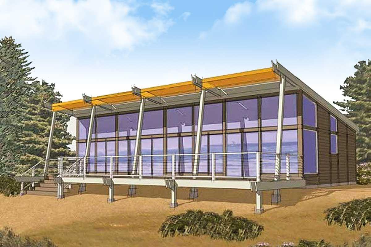Contemporary House Plan with Panoramic Views
