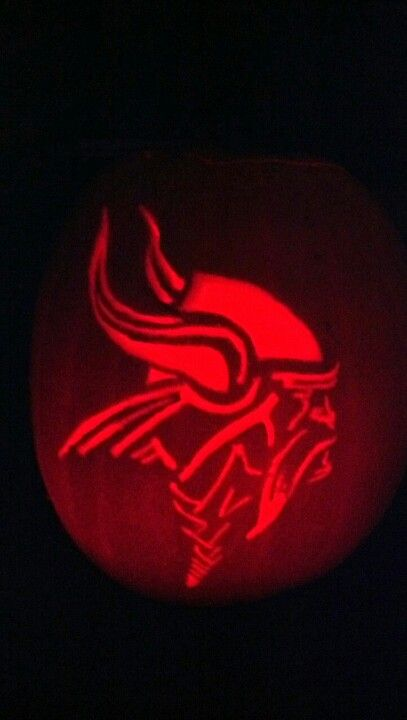 Vikings pumpkin carving completed projects by kmc