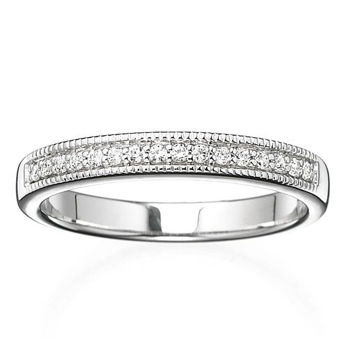 Miabella 1 10 Carat T W Diamond 10k White Gold Wedding Band Walmart Com Stylish Rings Bridal Bands Cheap Wedding Rings