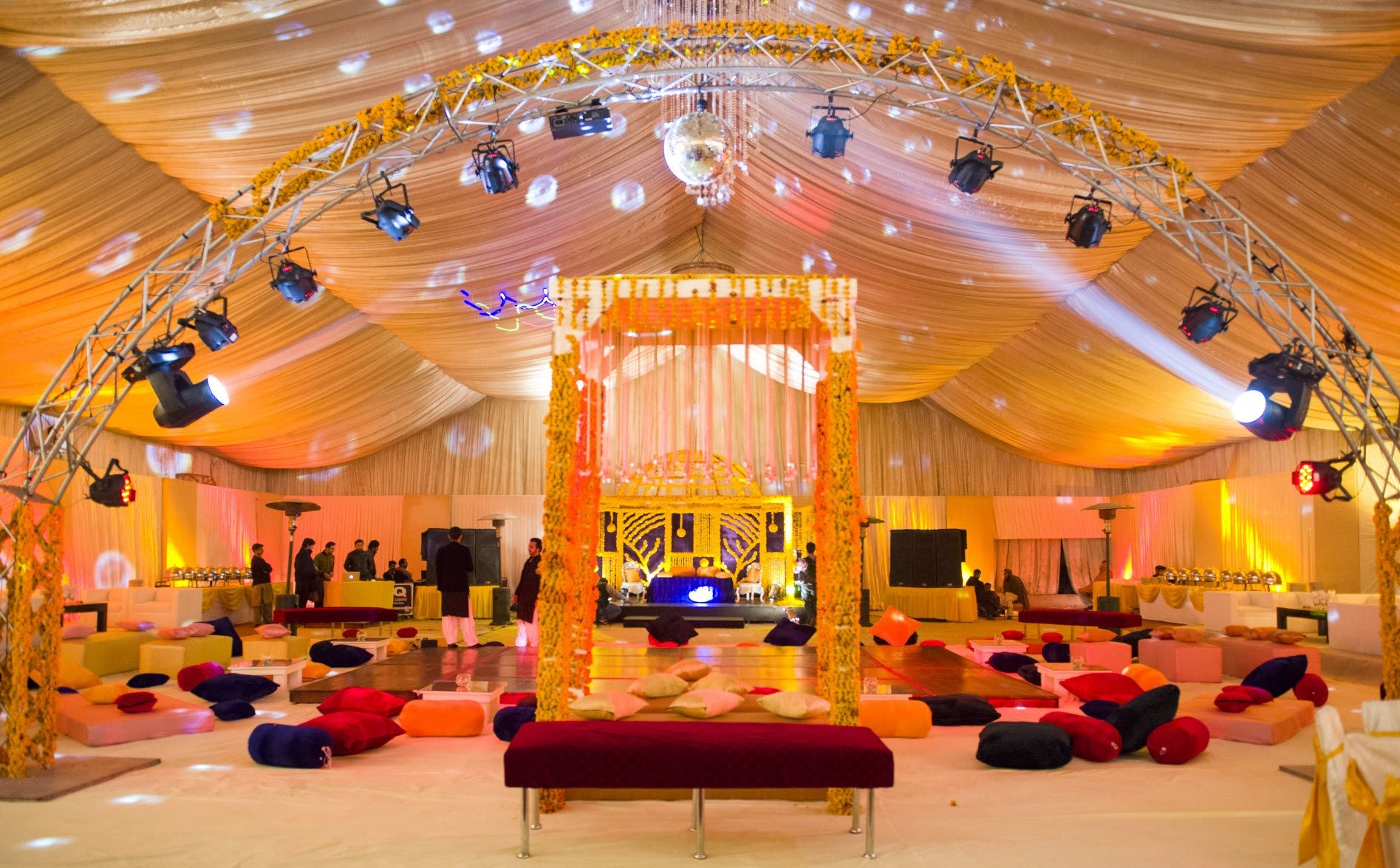 Mehndi Decoration Hall : Mehndi decor by miradore weddings