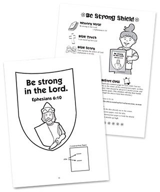 Free Printable Armor of God Bible Lesson for Kids