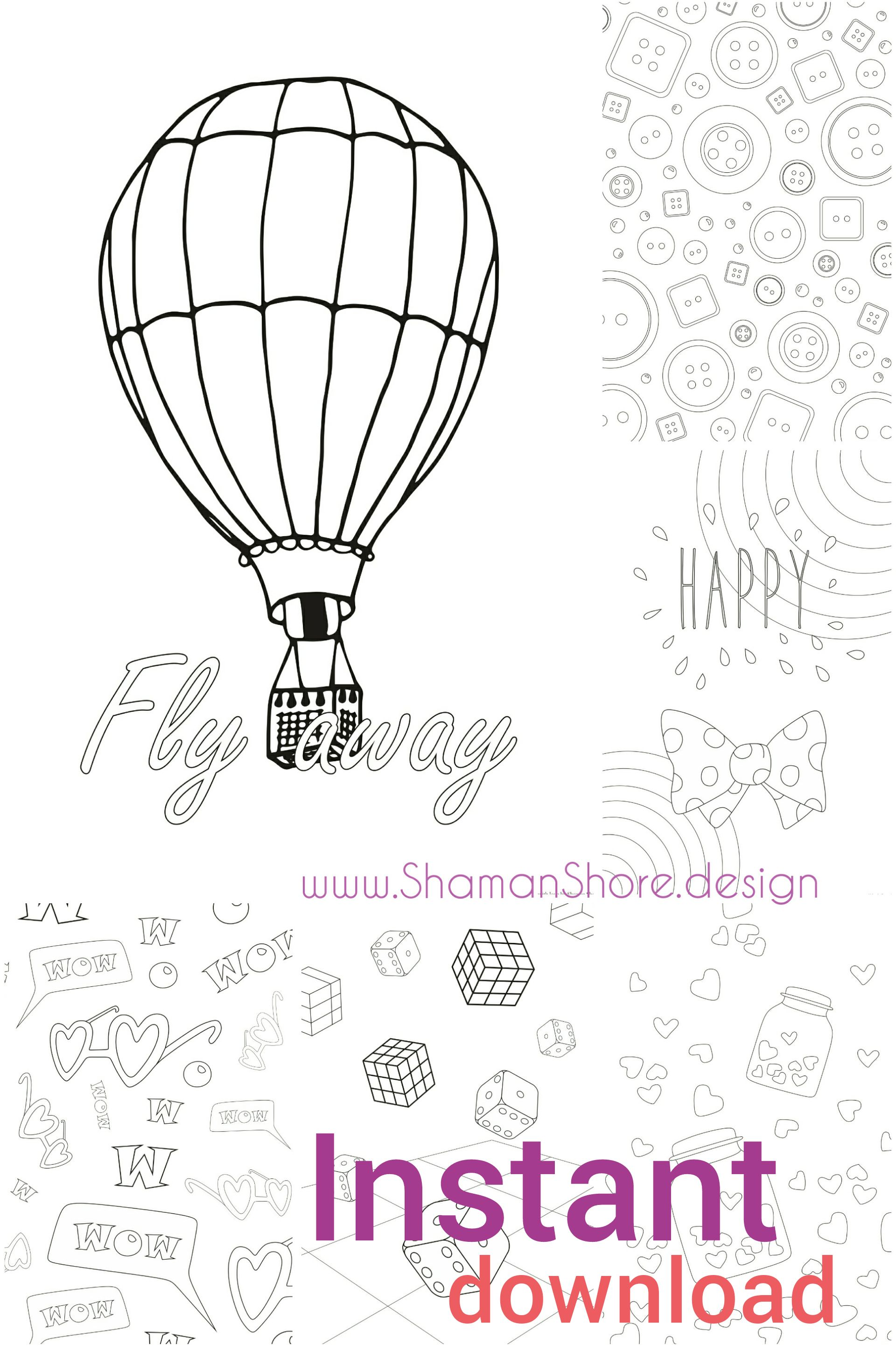 Digital Coloring Book Pdf Printable Coloring Pages Download Etsy In 2020 Coloring Pages Coloring Books Cool Coloring Pages