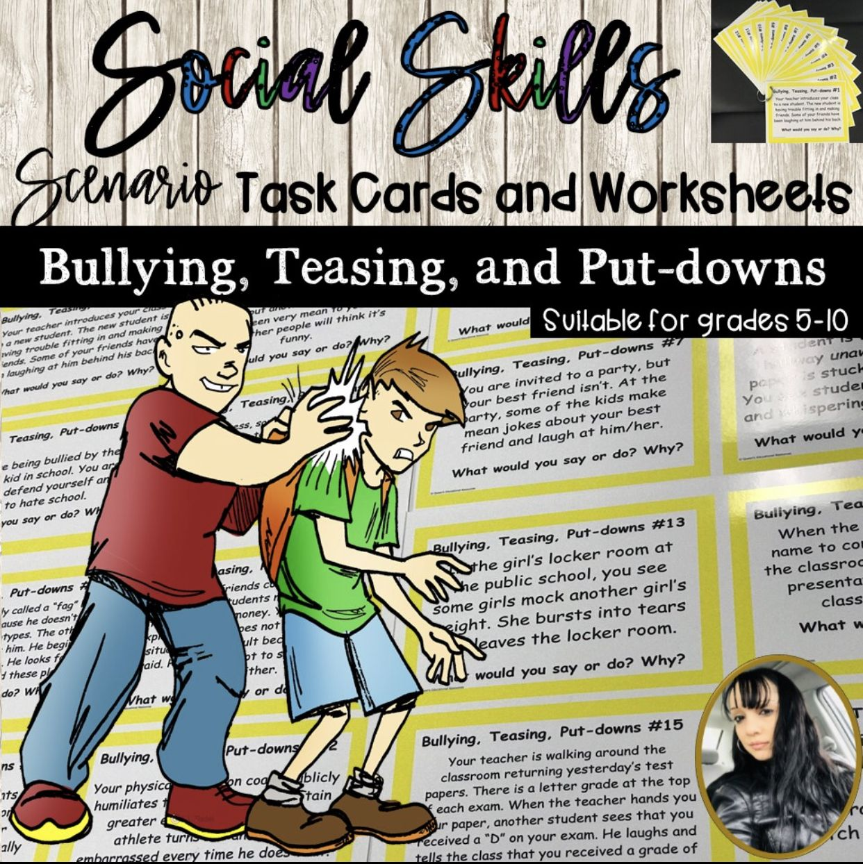 Bullying Scenario Task Cards And Worksheets
