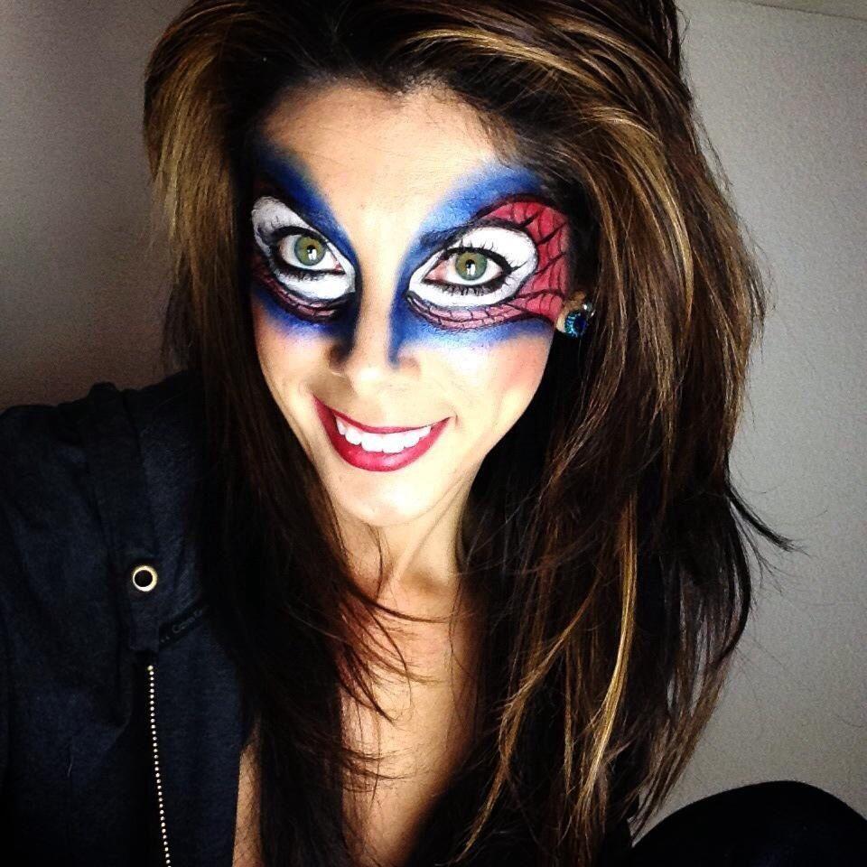 My own Bri version :-) spiderman makeup | Face Paint.. | Pinterest ...