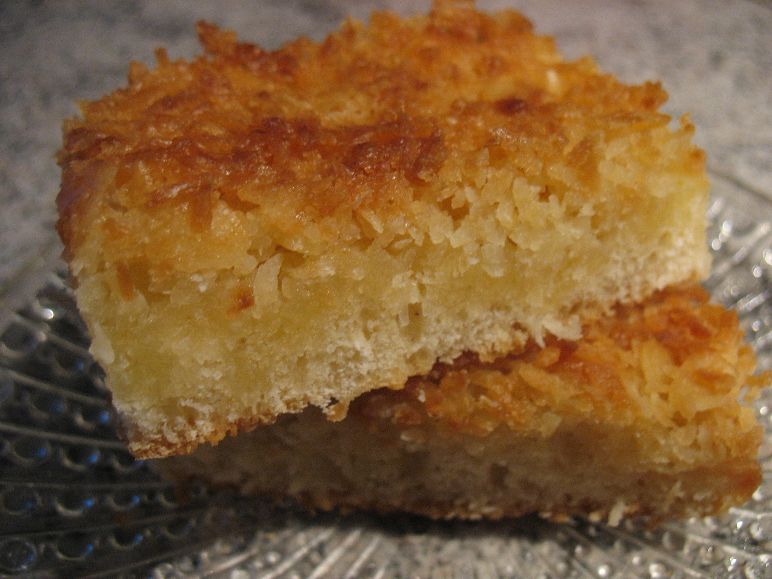 Kokos Bienenstich Blechkuchen Besonders Saftig Rezept Backen