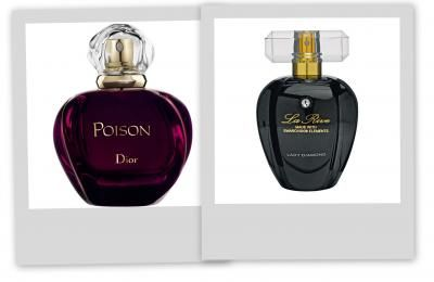 zeigt her eure dupes parfum poison von dior und la rive lady diamond von rossman http www. Black Bedroom Furniture Sets. Home Design Ideas