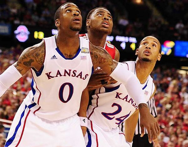 Thomas Robinson waits for a rebound. The 610 D.C. native averaged 17.7 points and 11.8 rebounds as a Junior for the Kansas Jayhawks | Photo: Greg Nelson/SI