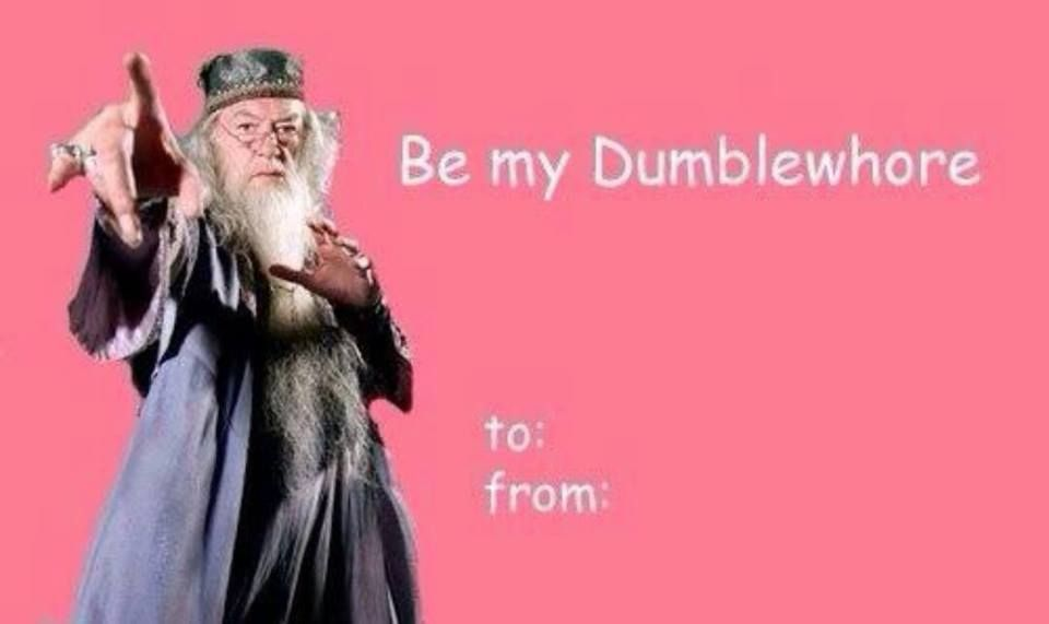 Harry Potter Valentines Cards: Be My Dumblewhore