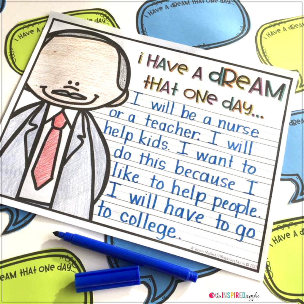 Martin Luther King Writing Activity