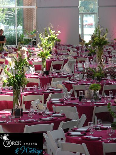 Hot Pink Table Linens (florals Not By Weckevents) #wedding