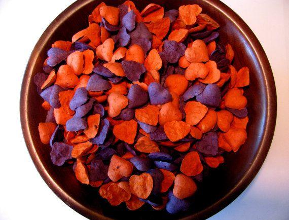 Custom Wedding Favor For Liz K Plum And Burnt Orange Heart Shaped Seed S